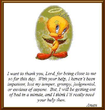 Elisha's Mantle Tweetys prayer